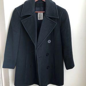 Jones New York navy pea coat 6 100% wool